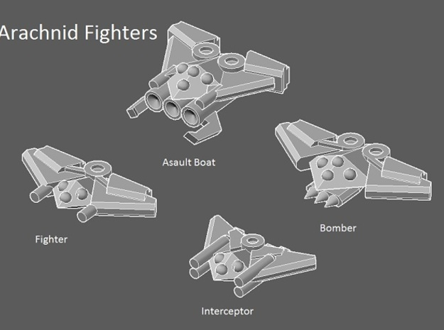 8 Arachnid Fighters 3d printed faction preview