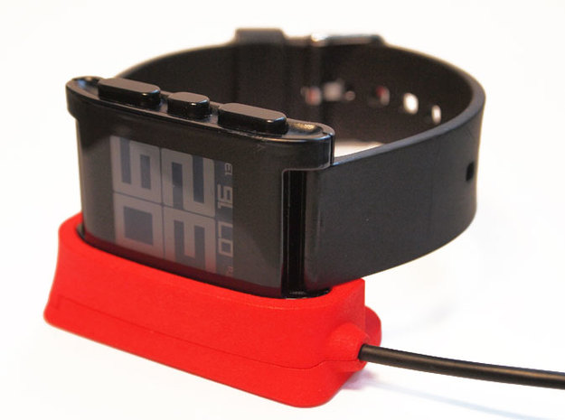 Pebble Dock - Horizontal 3d printed Pebble Watch Dock - horizontal mount