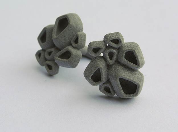 Barnacle Cufflinks 3d printed