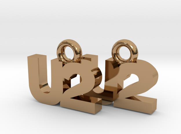 U2 Earrings 3d printed