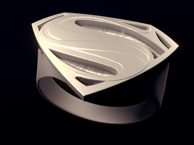 Man Of Steel - Ring 3d printed Rendered View