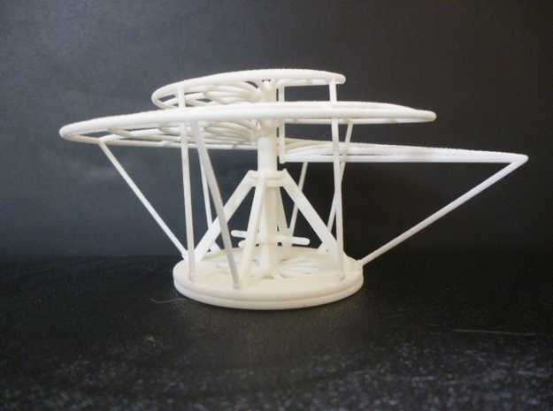 Aerial Screw (Leonardo) 3d printed