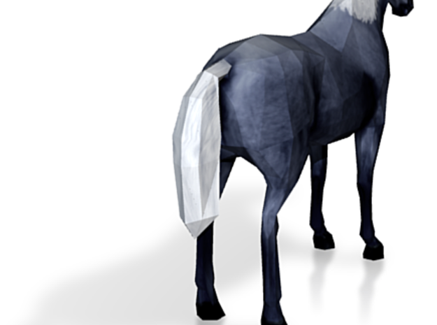 Horse Black Fancy 3d printed