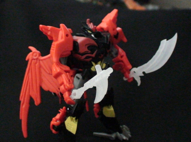 Transformers Beast Hunters Legion Abominus Arsenal 3d printed Predaking with Armor-Ripper and Stormslasher
