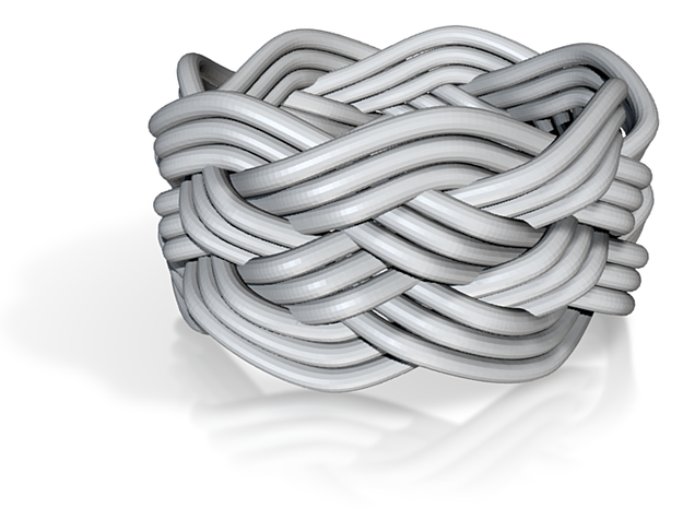 Turk's Head Knot Ring 5 Part X 7 Bight - Size 5.75 3d printed