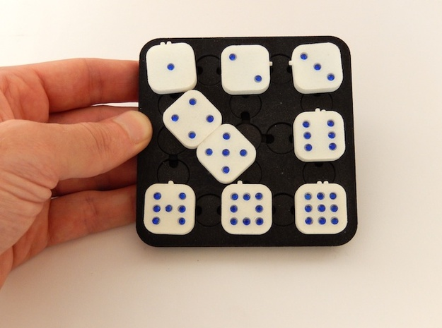 Dancing Dice & Dominoes Puzzle 3d printed Swapping Tile 4 and 5
