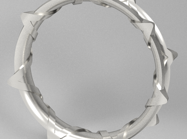 Twisted Star Bangle 3d printed Rendering