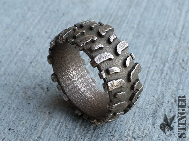 Mud Tire Size 9.5 Ring 3d printed