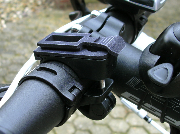 Ixon bicycle headlight clamp part 3d printed