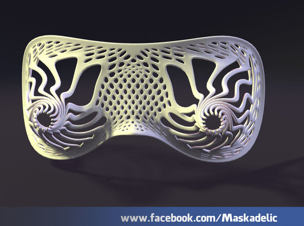 Party Mask Tunnel Vision: Tendril 3d printed front view