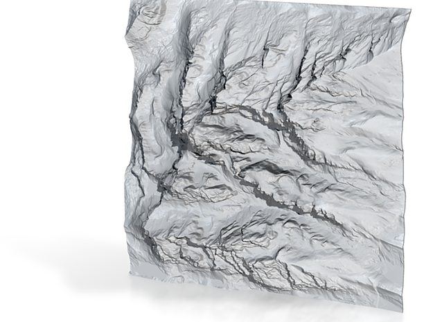 6'' Grand Tetons Terrain Model, Wyoming, USA 3d printed