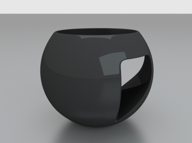 Spherical Espresso Cup Design 1 3d printed render