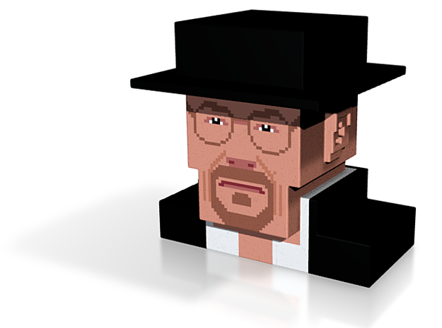 Breaking Bad Heisenberg (medium) 3d printed
