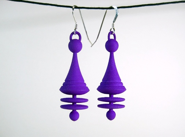 Orbit City Earrings 3d printed