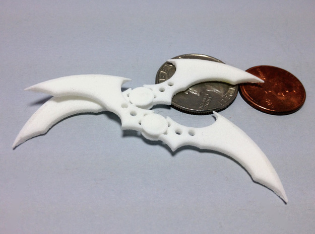Arkham Asylum Batarang 3d printed White Strong & Flexible Batarangs