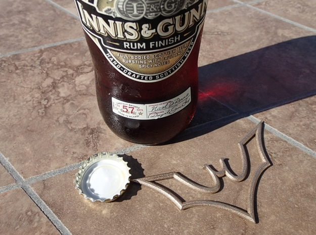 Batarang Bottle Opener 3d printed