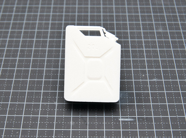 NATO 20L Jerry Can 1/10 Scale 3d printed White Strong Flexible printed version - Side
