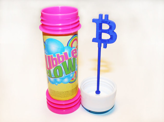 Bitcoin bubble blow 3d printed Bitcoin bubble blow