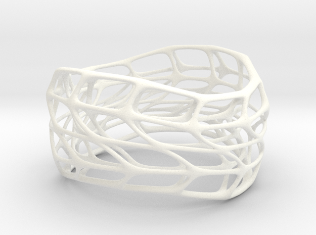 Hollow Panel Bracelet Silver (sz M/L) 3d printed