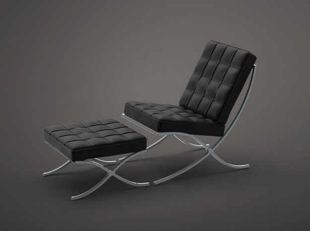 1:24 Barcelona Chair - Van Der Rohe and Lily Reich