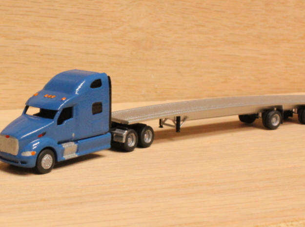 1:160 N Scale Peterbilt 387 Tractor x2 3d printed