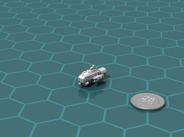 Jovian Garon class Escort 3d printed Render of the model, with a virtual quarter for scale.
