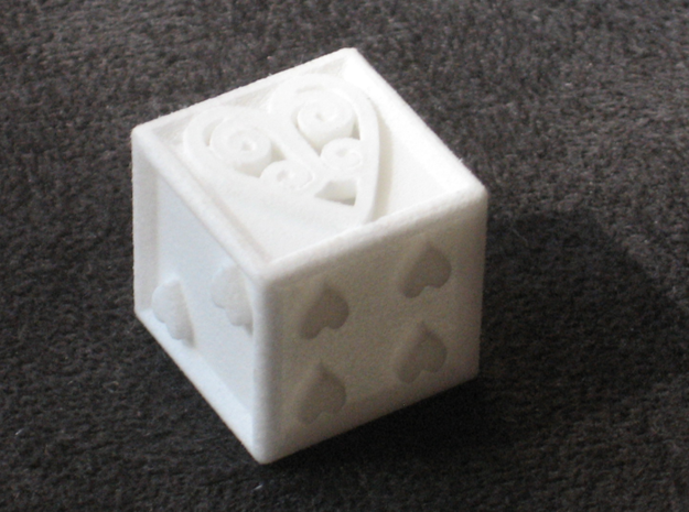 Ace Die Heart 3d printed