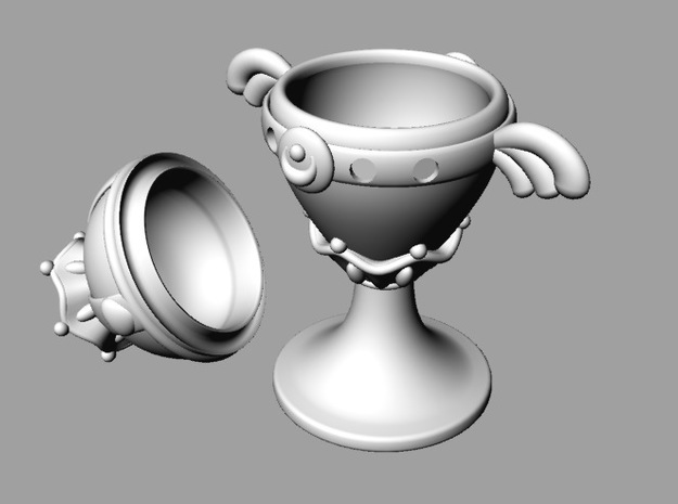 Moon Grail Spaces For Gems 2 Parts 3d printed