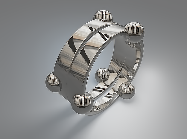 Floating ring - Split version 3d printed Floating ring - Split version - Silver
