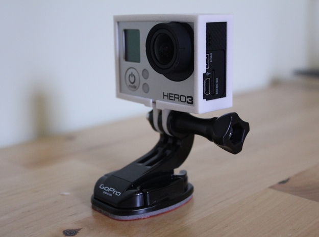 GoPro Hero3 & Hero4 - Frame'ish - d3wey 3d printed ldeal for general purpose use.