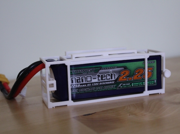Turnigy Nanotech 2250 Battery Cage 3d printed Battery Cage with Turnigy Nanotech 2250mah 3s battery fitted