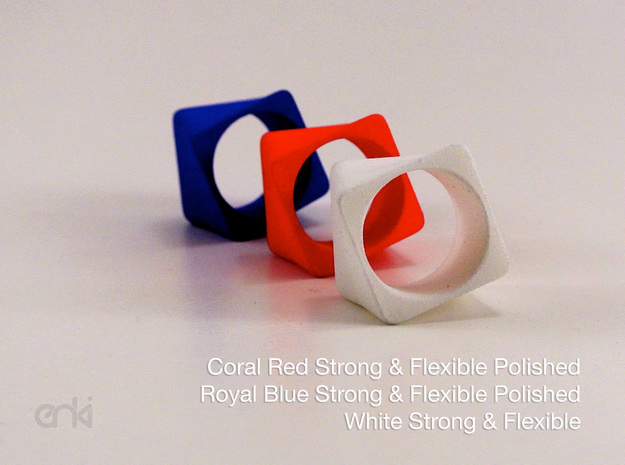 Twisted Cube - Ring - diam19 mm 3d printed