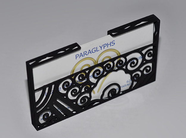 Art Deco Business Card Holder 3d printed Front