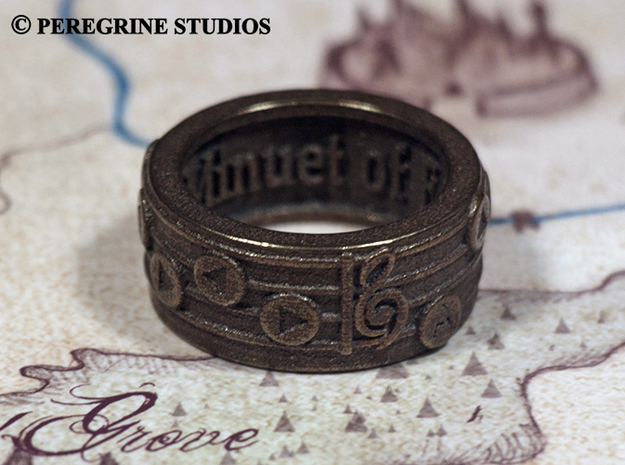 Ring - Minuet of Forest (Size 13) 3d printed Antique Bronze Glossy
