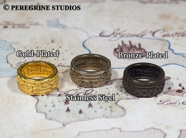 Ring - The Sun's Song (Size 13) 3d printed