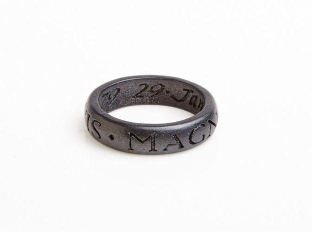 Explorers Ring - U3 Version 3d printed U3 ring in matte black steel