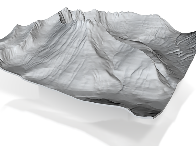 4'' Mt. Wilbur Terrain Model, Montana, USA 3d printed