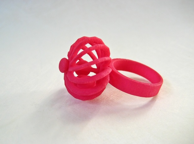 Turbine Fidget Ring 3d printed