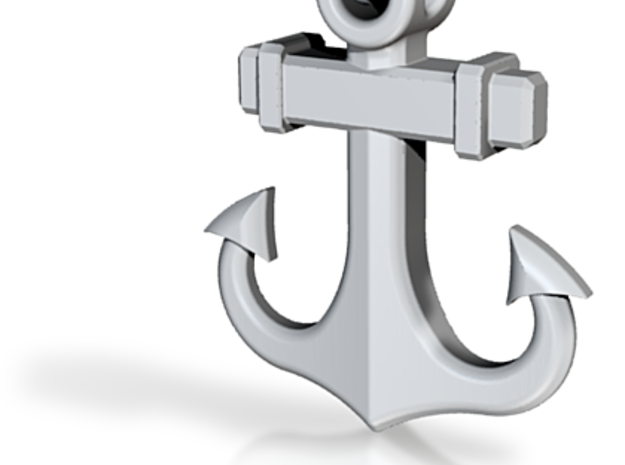 Anchor Pendant (1.6 Inches, No Text) 3d printed