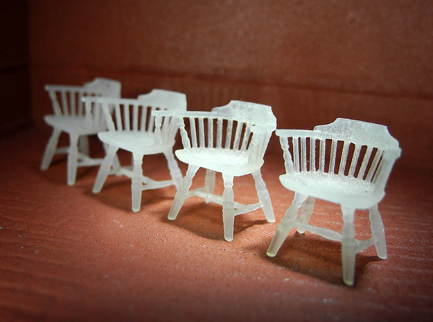 1:48 Windsor Low Back Chairs 3d printed