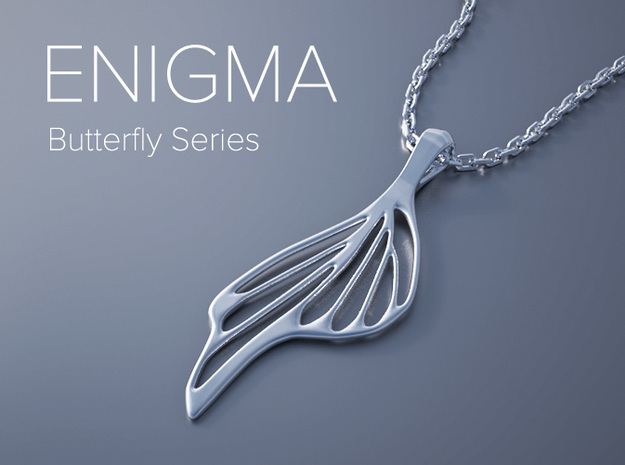Enigma Butterfly Series Pendant 3d printed Enigma Butterfly Series Pendant