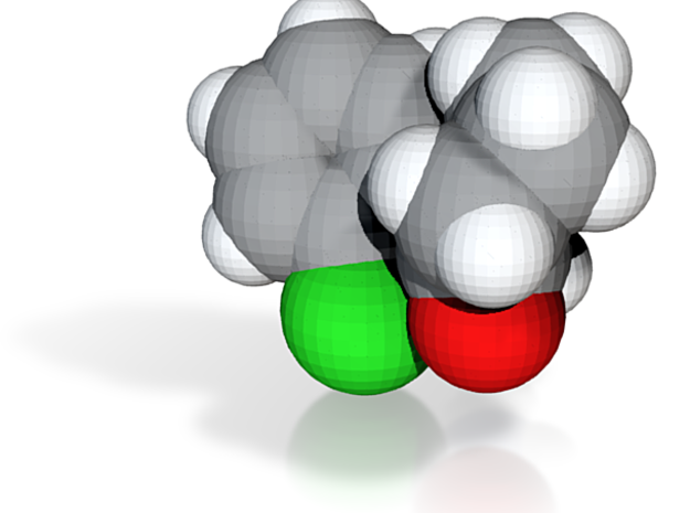 Ketamine molecule (x40,000,000, 1A = 4mm) 3d printed