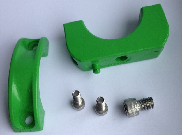Camera Bracket 3d printed raw parts with fasteners (excluding nuts)