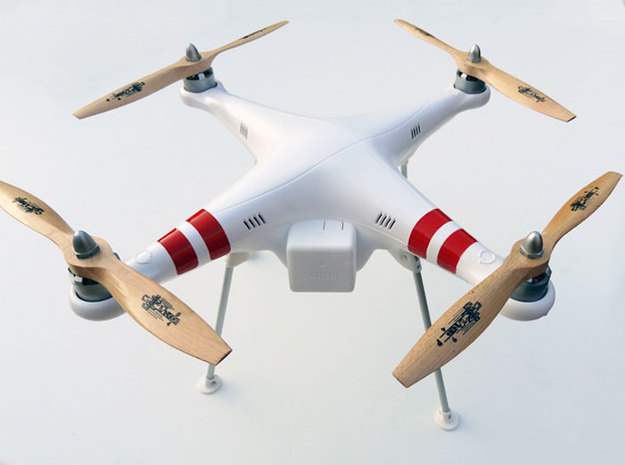 DJI Phantom Wide Landing Gear 3d printed DJI Phantom Wide Landing Gear overview