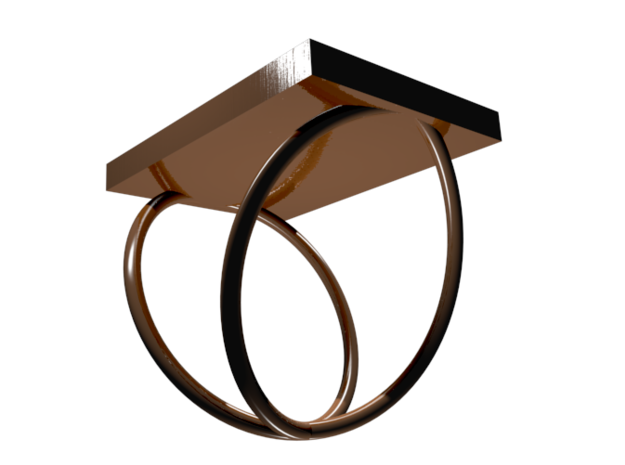 Copper Periodic Table Ring Size 6 3d printed CGI Render of The Copper Ring From The Bottom