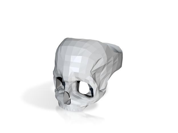 Black Nylon Skull Ring by Bits to Atoms 3d printed