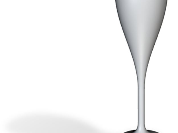 champagne flute & 3d printed