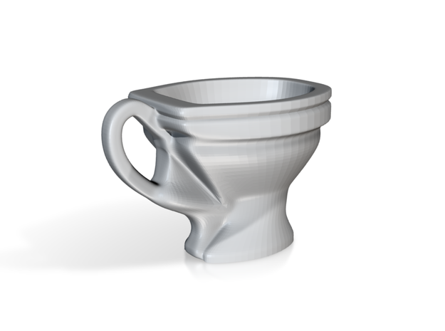 Toilet coffee cup 3d printed