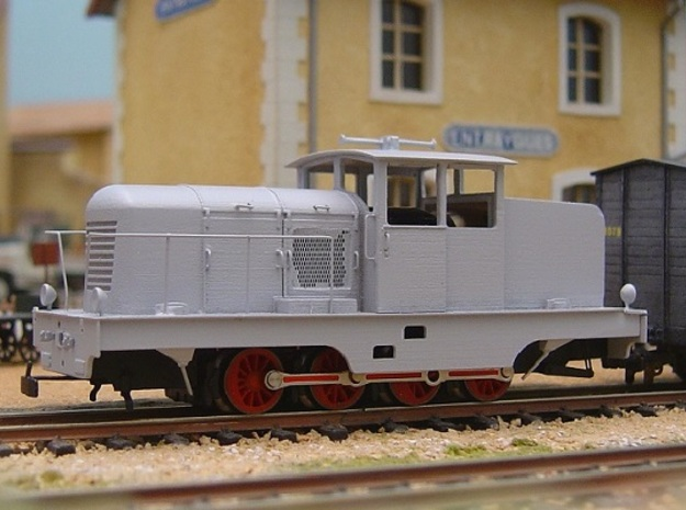 CP51 with side doors HOm/HOe 1:87 3d printed model with extra details and primer coat