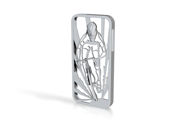 Muscular Cyclist iPhone 5/5s Case 3d printed shapeways rendering